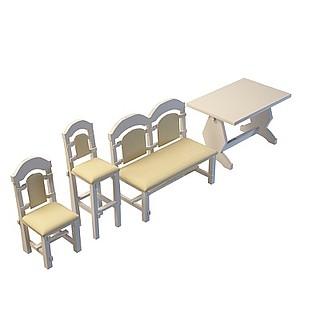欧式<font class='myIsRed'>实木桌椅</font>3d模型