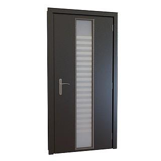 玻璃镂空木质门3d模型