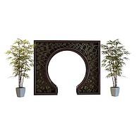 带竹子的拱门3D模型3d模型