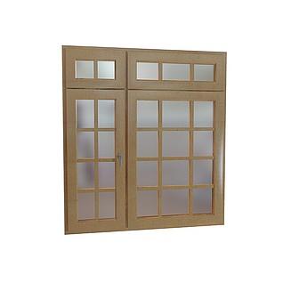 方格窗户3d模型