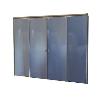 玻璃大门3d模型