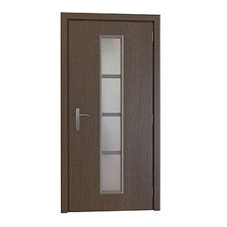 木质单开玻璃镂空门3d模型