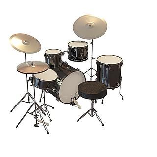 架子鼓带凳子3d模型