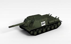 3d蘇聯SU-152反坦克模型