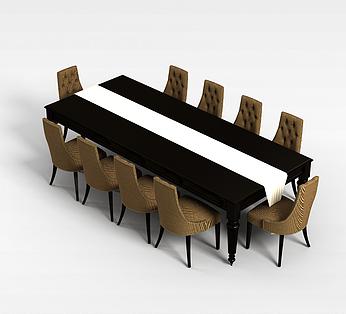 十人桌椅组合
