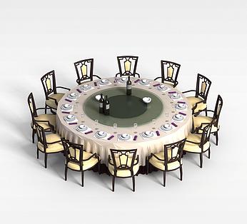 餐馆12人桌椅
