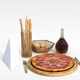 食品3D模型