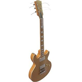 木吉他3d模型