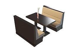 餐饮店桌椅3d模型