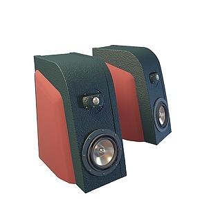 组合低音炮音响3d模型