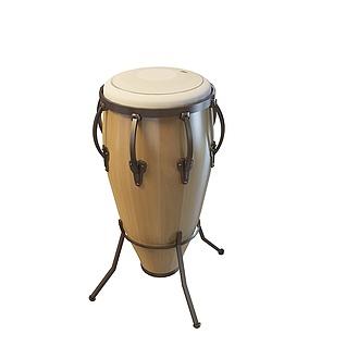 非洲小鼓3d模型