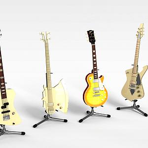 3d<font class='myIsRed'>电吉他</font>组合模型
