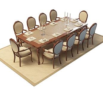 十人超大桌椅