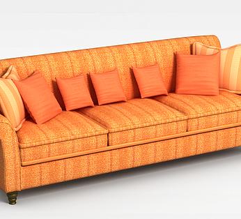 欧式三人沙发