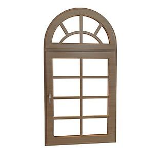 拱形窗户3d模型