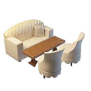 3d<font class='myIsRed'>酒店沙发</font>茶几组合模型