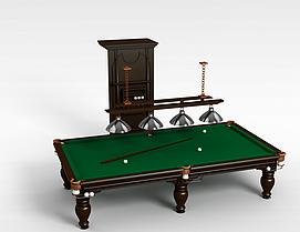 成套台球桌项目3d模型