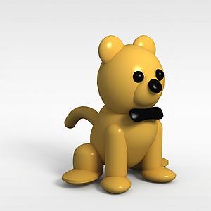3d卡通狗狗模型