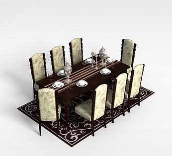 8人餐桌椅