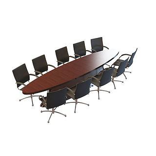 公司会议桌椅3d模型