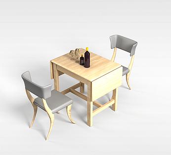 2人桌椅组合