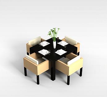 4人餐厅桌椅组合