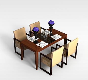 4人餐桌椅