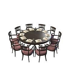 10<font class='myIsRed'>人</font>桌椅组合3d模型