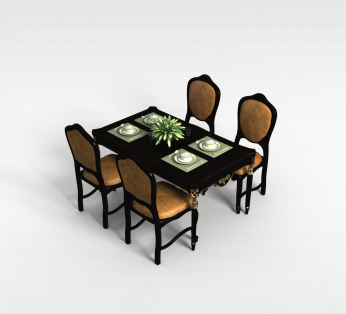 4人餐桌椅组合