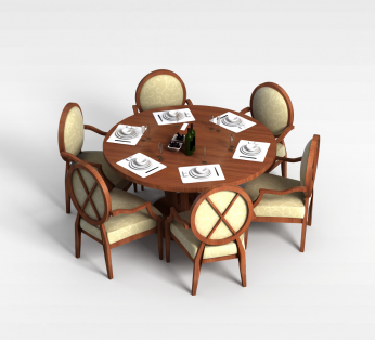 6人桌椅组合