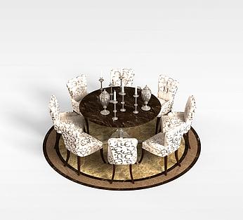 8人桌椅组合