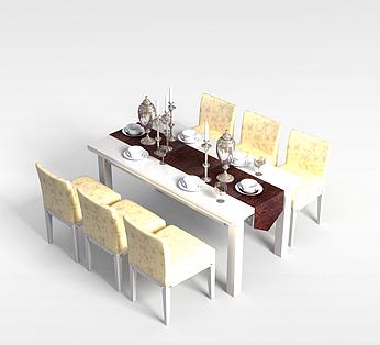 6人餐厅桌椅组合