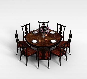 欧式8人餐桌椅组合