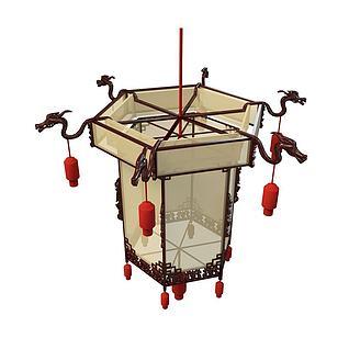 中式灯笼3d模型