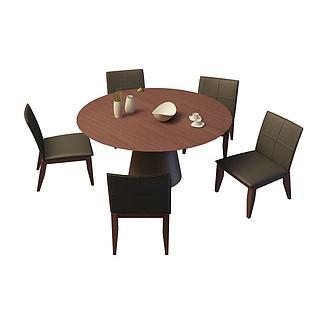 公司休息室桌椅3d模型