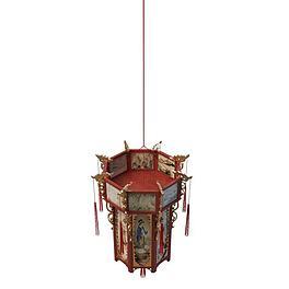 仿古灯笼形吊灯3D模型