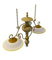 欧式吊灯模型3d模型