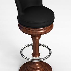 3d旋转吧椅模型
