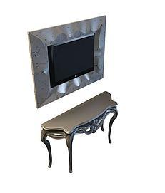 3d曲桌模型
