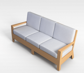 三<font class='myIsRed'>人</font>沙发椅3d模型