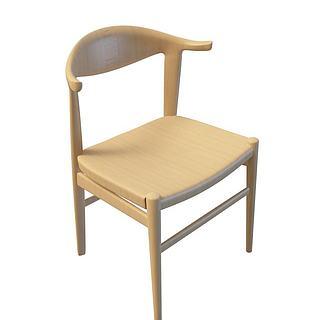 实木<font class='myIsRed'>餐椅</font>3d模型
