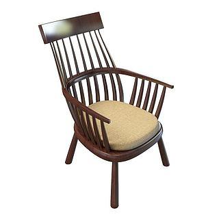 中式<font class='myIsRed'>老人</font>椅3d模型