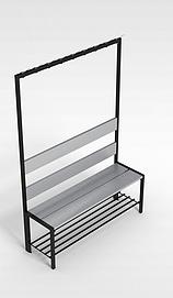 3d置物架椅子模型