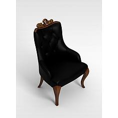 棕色真皮沙发椅3D模型3d模型