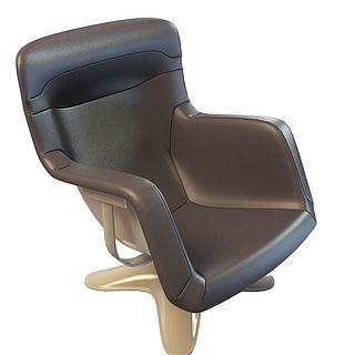 现代时尚办公椅3d模型