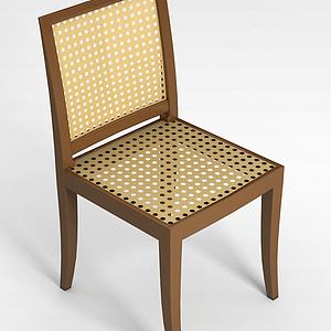 3d藤椅模型