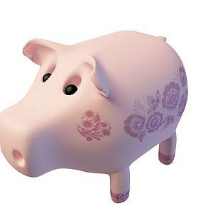 3d猪猪存钱罐免费模型