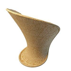 3d创意藤编椅模型