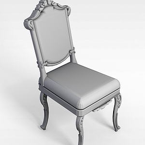 3d高档<font class='myIsRed'>欧式椅</font>模型