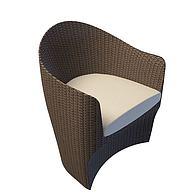 藤编沙发椅3D模型3d模型